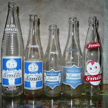 Smile Soda Pop Bottles - Bottles