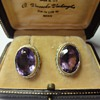 Amethyst and pearl seed earrings