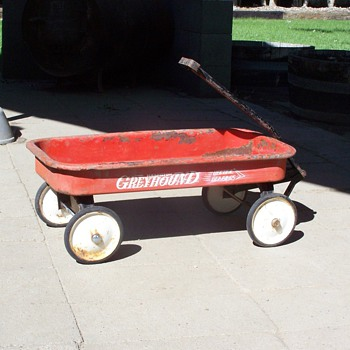 1950's Greyhound (lifetime Bearings) Lil Red Wagon - Outdoor Sports