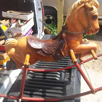   VINTAGE ROCKING HORSE