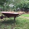 Old miners wheel barrow