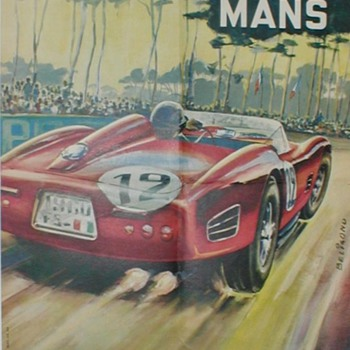 1961 - 24 Hours LeMans Race Poster &amp; Decal - Posters and Prints