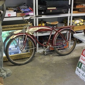 Late 40's Columbia 3-Star Deluxe Tank Bike * Original Paint - Outdoor Sports