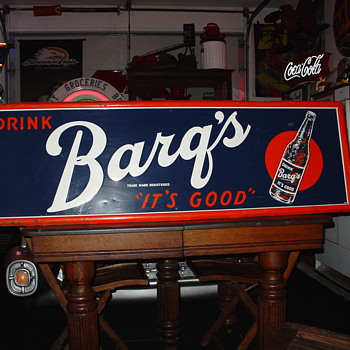 Barq&#039;s Root Beer...Embossed Vintage Tin Sign - Signs