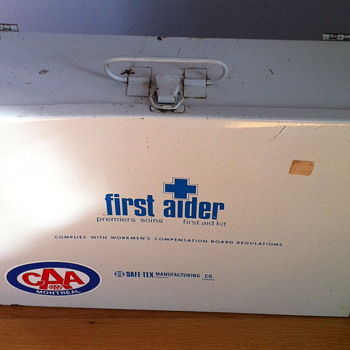 First aid kit from 1976.
