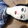 "24"" Victorian Saloon Blue Eyed Girl Doll handmade from fabric/ rags"