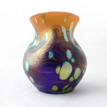 Lötz neurot Cytisus vase, ca. 1902 - Art Glass
