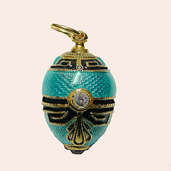 A Faberge Egg Pendant New - Costume Jewelry