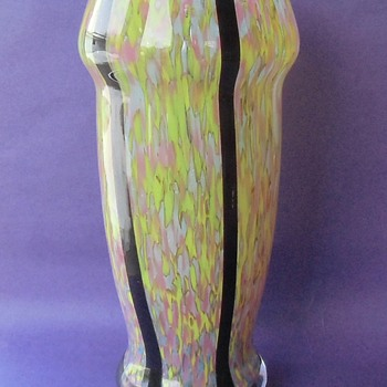 A Large Heavy Czech Glass Vase By Unkown Maker (maybe Ruckl) & More Examples