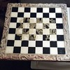 Hand Carved Dragon Chess Board