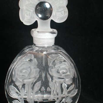 BOHEMIAN PERFUME BOTTLE - Art Glass