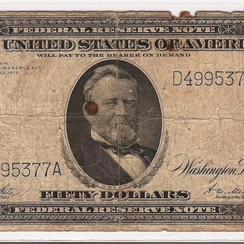 Favorite $50! 1914 FRN - US Paper Money