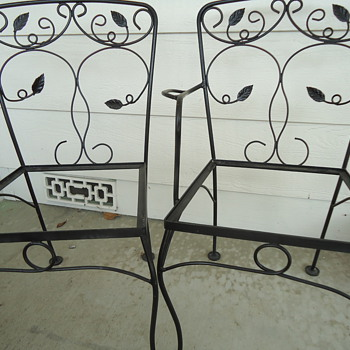 1950's maybe wrought iron chairs - Furniture