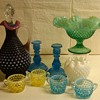 FENTON PLUM DECANTER + MORE HOBNAIL PIECES