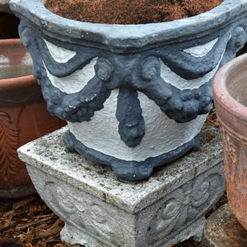 Old Cement Planters