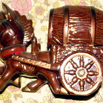 pottery-donkey whisky decanter?