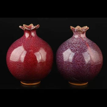 Small pomegranate vases. - Pottery