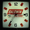 BALDWIN FILTERS LIGHTED ADVERTISING CLOCK by ESSEX 1960-1970