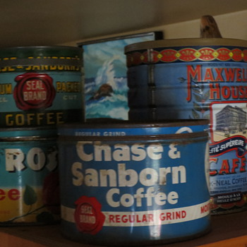 cool coffee tins - Advertising
