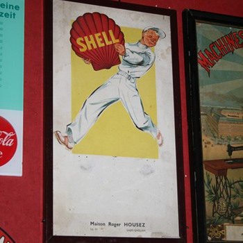 shell 1940's calendar - Advertising