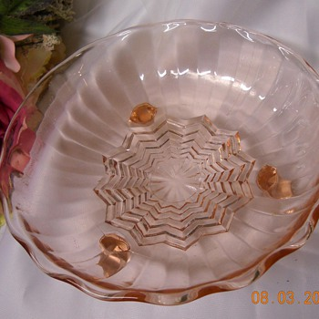 Pink Candy Dish and Green Depression Glass Jar ?