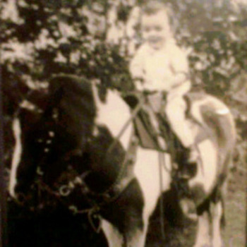 Cute Picture of My Dad on a Pony  - Photographs