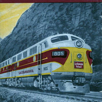 Fall 1950 Lackawanna RR Time Table - Railroadiana