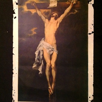 """Jesus on cross"" by Anton Van Dyck - Print"