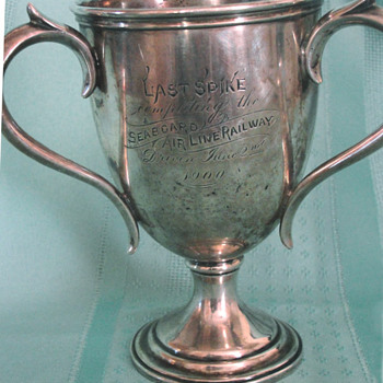 Sterling Silver presentation cup: Last Spike of the Seaboard Air Line Railway, ca 1900