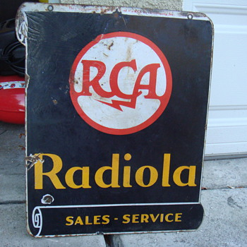 RCA Radiola Porcelain Dealers Sign - Radios