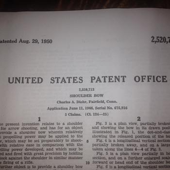 Charles Diehr Crossbows Patent 1948