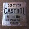 Handsome brass Castrol oil sign