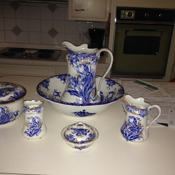 My Well-Traveled Flow Blue Wash Set - China and Dinnerware
