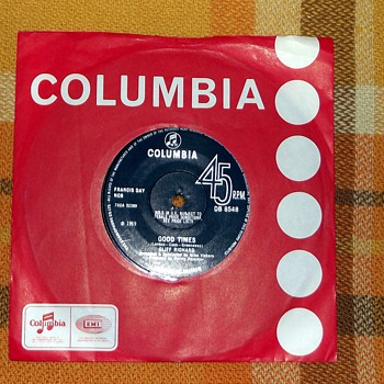 1969-cliff richard-&#039;good times&#039;-45rpm-pop.