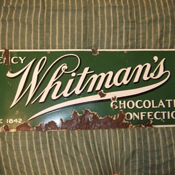 Whitman's choclates and confections porcelain sign - Advertising