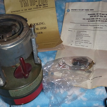 Army military one burner cook stove from 1963