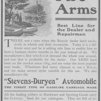 1902 Stevens Fire Arms Advertisement - Advertising