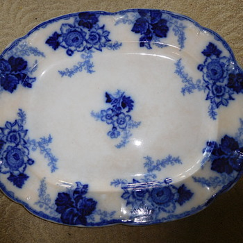 Help identify Messina England Flow Blue Platter Mark or Age - China and Dinnerware