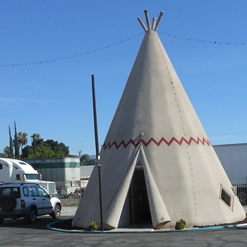 Inside a Wigwam in Rialto CA - Photographs