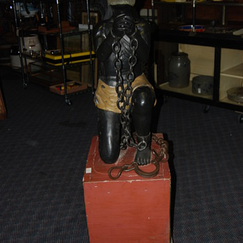 1880 lifesize black slave carving