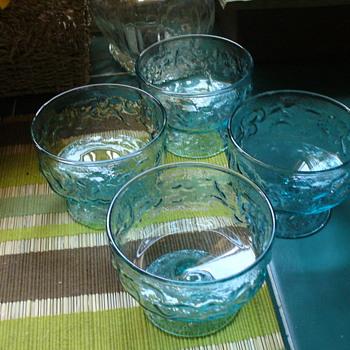 Aqua Blue Molino Lido Sherberts - Glassware