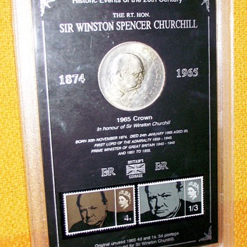1965-winston churchill-stamp/coin set. - World Coins