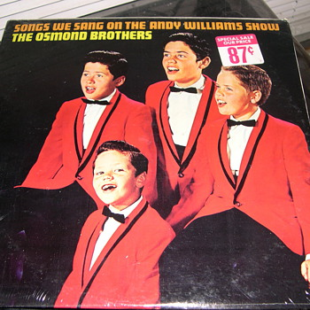THE OSMOND BROTHERS SONGS WE SANG ON THE ANDY WILLIAMS SHOW E-4146