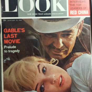 LOOK MAGAZINE Januay 31 1961 CLARK GABLE MARILYN MONROE RED CHINA - Paper