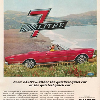 1966 Ford Galaxie Advertisement - Advertising