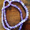 Antique carved amethyst bead necklace