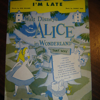 Alice in Wonderland Sheet Music - I'm Late! - Music