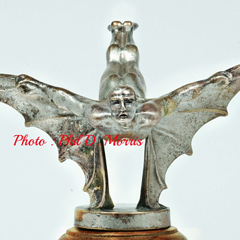 Sasportas Batman Circa 1920, Chrome Plated Bronze Mascot - Art Deco