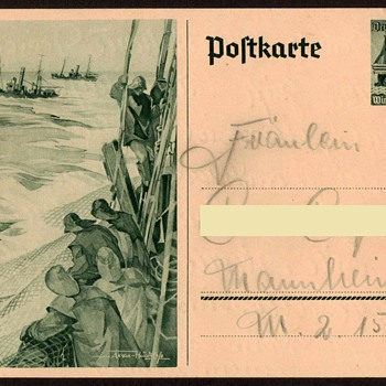 "1937 - German ""Winter Relief"" Postal Card - Postcards"