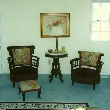 Early 1800s his and her chairs